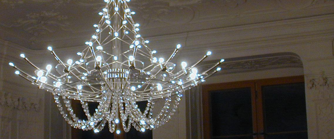 Lüster im Palais Salfeld